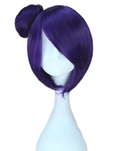 etruke court Anime Naruto Konan Violet Lolita Cosplay Perruques