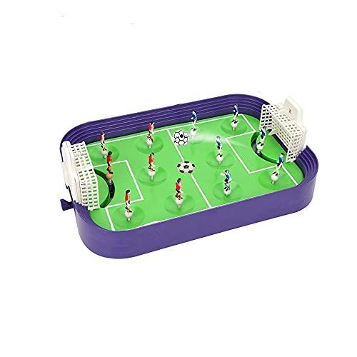 JJZXD Giocattolo Sportivo per Bambini Mini Calcio da Tavolo Gioco da Tavolo Desktop Campo da Calcio Modello Building Blocks Kids Soccer Toy Festival Gift