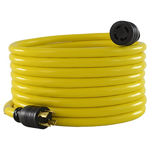Conntek 20601 25-Foot 10/4 30 Amp 125/250 Volt 4 Prong L14-30 Transfer Switch Cord/Generator Extension Cord
