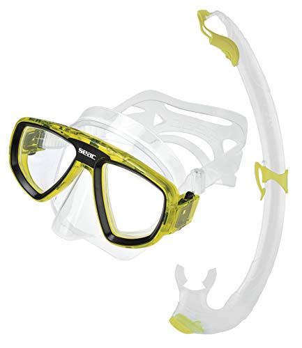 Seac Schnorchelset Extreme Evo, Set für das Tauchen, Schnorcheln und die Unterwasserjagd, Maske aus Silikon, Schnorchel mit Ausblasventil, 100% Silikon, Unisex, für Erwachsene