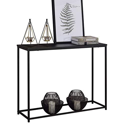 IDIMEX Konsolentisch Javier modernes Design, Konsole Flurtisch Anrichte schmal MDF Platte Metallgestell, in schwarz