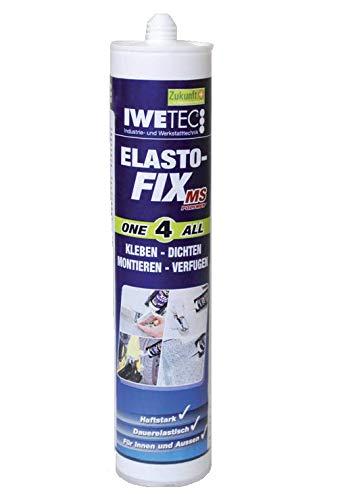 Iwetec Elasto-Fix, Kleb- und Dichtmasse 290 ml 3 versch. Farben (weiß)