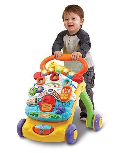 411B8bbm+gL - VTech - Correpasillos Andandín 2 en 1, Diseño Mejorado, Andador Bebé InTeractivo Plegable y Regulador de Velocidad, Multicolor (80-505622) , color/modelo surtido