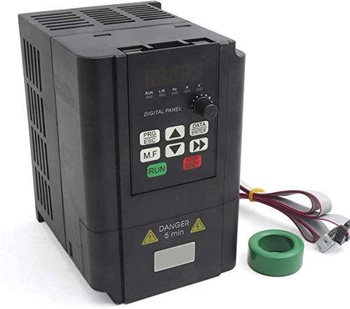 RATTMMOTOR VFD 2.2kW 220V 3 Phasen Frequenzumrichter CNC Umrichter mit 2m Verlängerungskabel für Spindelmotor Geschwindigkeit Kontrolle