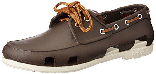 Crocs Beach Line Boat Shoe Men, Herren Bootsschuhe, Braun (Espresso/Stucco), 41/42 EU