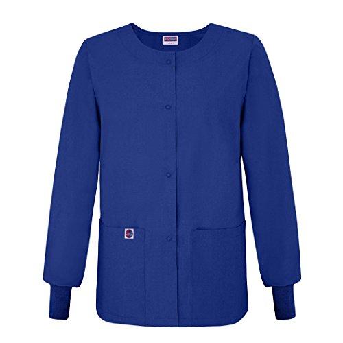 Sivvan Women's Scrub Warm-Up Jacket / Front Snaps - Round Neck - S8306 - RYL - M