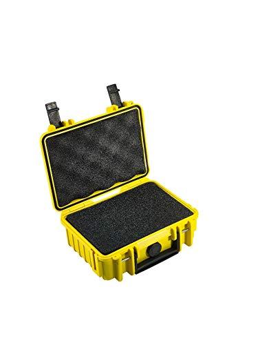 B&W Transportkoffer Outdoor Typ 500 gelb mit Würfelschaum - wasserdicht nach IP67 Zertifizierung, staubdicht, bruchsicher und unverwüstlich