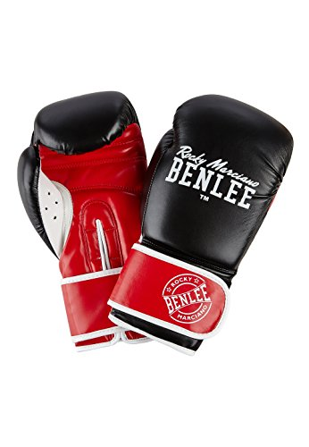 BENLEE Rocky Marciano Carlos Boxhandschuhe, Black/Red/White, 10 oz
