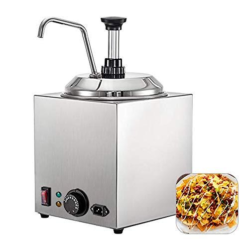 nacho cheese warmer with pump - 6