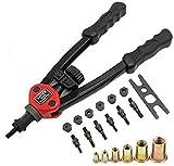 Premium Easy Automatic Rivet Tool Set kit,Hand Manual Rivet Nut Tool Set,Labor-Saving Design 6' Pull Cap Heavy Duty Hand Riveter