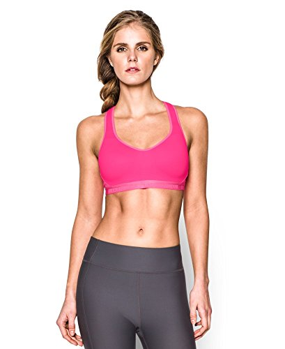 Under Armour High Damen-Sport-BH, bei intensiver Belastung 70 B Rebel Pink