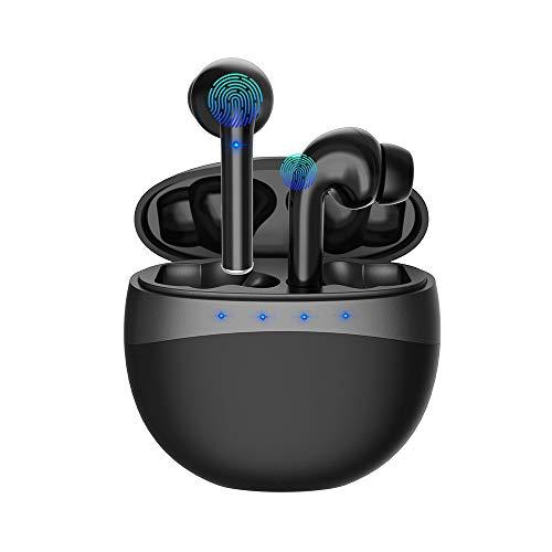 ZBC Bluetooth Kabellose, Bluetooth Kopfhörer in Ear TWS Noise Cancelling Stereo Wasserdicht Sport Ohrhörer Wireless Kopfhörer Ohrhörer mit Mikrofon für iPhone Android Samsung (Schwarz)