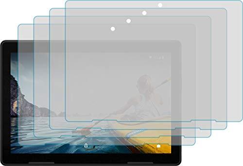 4ProTec I 4X Schutzfolie KLAR passexakt für MEDION LIFETAB E10713 - Displayschutzfolie Schutzhülle