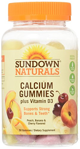 Sundown Calcium Plus Vitamin D3 Gummies, 50 ct