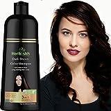 Herbishh Hair Color Shampoo for Gray Hair – Natural Hair Dye Shampoo – Colors Hair in Minutes – Lasts Up To 3-4 Weeks – 500 Ml – 3-In-1 Hair Color – Ammonia-Free   Herbishh (Dark Brown)
