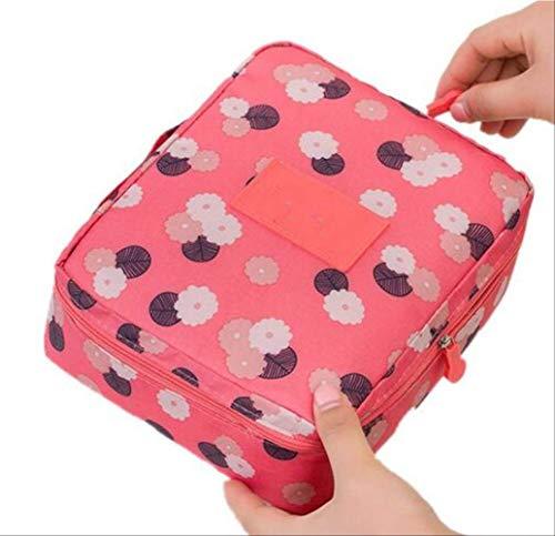 Rangement pour Sac de Maquillage pour Femmes Se sont précipités Nylon Floral Zipper New Travel Wash Pouch N