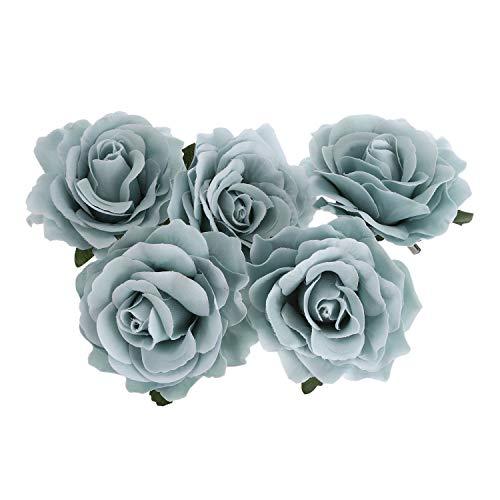 Nrpfell Rose Flower Hair Clip Dancer Pin Up Flower Broche 5