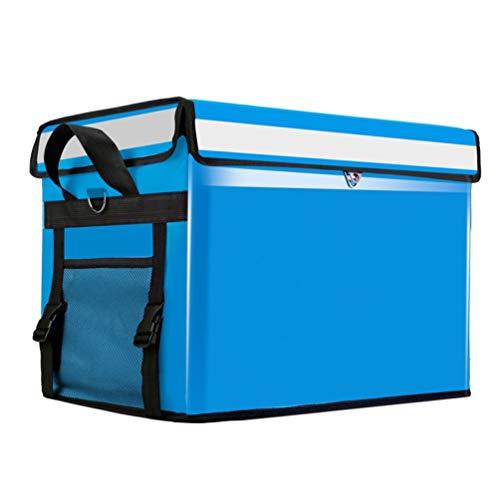 Bolsa más fresca para llevar comida para pizza, Bolsa Térmica Gran Capacidad para Multiuso, caja de entrega de coche impermeable espesa, mochila de aislamiento portátil ( Color : Blue , Size : 80L )
