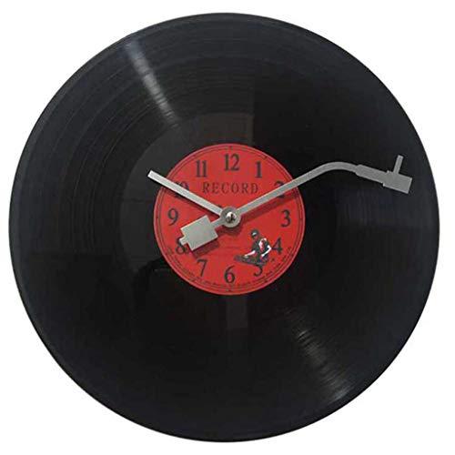 Imita Un Disco De Vinilo Musical La Manecilla De Los Minutos Es como La Aguja De Un Tocadiscos. Reloj De Pared De DiseñO Retro De 30 Cm De DiáMetro. ¡Grandes éXitos! 30 X 30 X 3 Cm