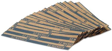 Flat Genuine Free Shipping Coin sale Wrappers Nickels 1000 2 Box