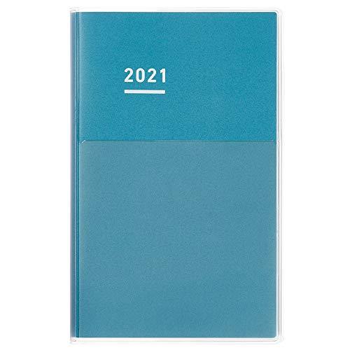 コクヨ ジブン手帳 DAYs mini 手帳 2021年 B6 スリム デイリー&マンスリー ブルー ニ-JDM1B-21 2021年 1月始まり