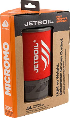Jetboil MicroMo Camping and Backpacking Stove Cooking System, Tamale Red