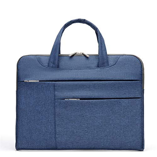QiuKui Tab Cover For Xiaomi Dell Asus, Double Pocket Nylon Portable Laptop Bags Sleeve Notebook Handbag Bag For Xiaomi Dell Asus 13 14 15 13.3 15.6 Inch (Color : Blue, Size : 14 inch)