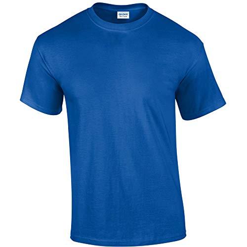 Gildan - Camiseta básica de manga corta Modelo Ultra Cotton para hombre caballero (4XL/Azul )