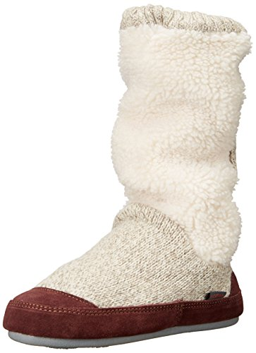 Acorn womens Slouch Boot slippers, Buff Popcorn, 8-9 US
