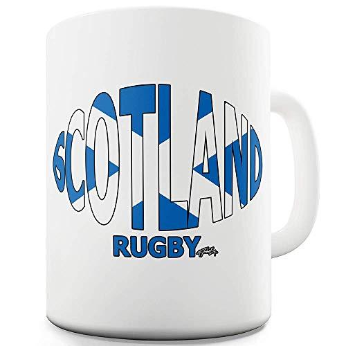 N\A Taza de cerámica con Bandera de Pelota de Rugby de Twisted Envy Scotland