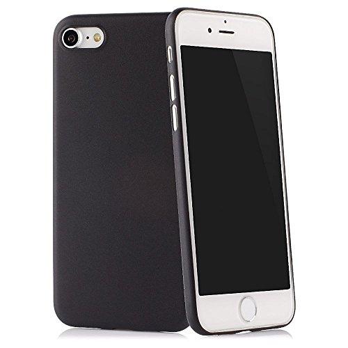 """QUADOCTA Ultra Slim Case in Nero Solido per Apple iPhone 8 4,7"""" Skin Cover Bumper Transparente"""
