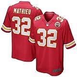 Tyrann Custom Mathieu Kansas Fútbol Deportes Camisetas Ciudad Juego Jefes Rojo Jersey Personalizado #32 No Fácil De Deformar Ropa Deportiva Para Hombres