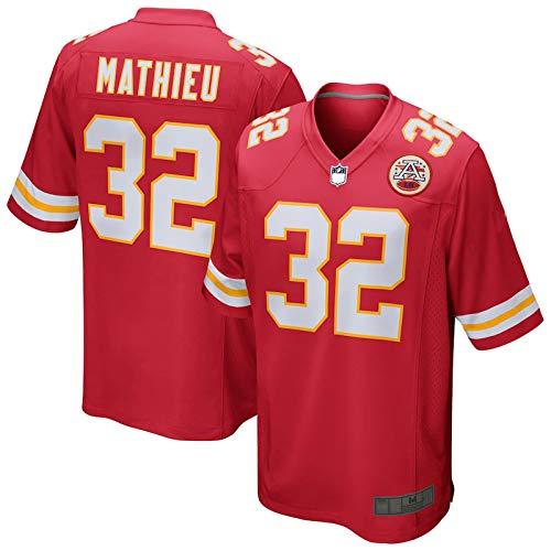 MILEXING Camiseta de rugby de fútbol americano personalizada Tyrann Kansas City NO.32 Chiefs Mathieu Game Jersey de secado rápido para hombre, color rojo