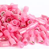 AIRIC Heat Shrink Spade Connectors Female Spade Terminals Waterproof Wire Connector 100PCS 22-16AWG Electrical Wire Spade Terminals 22-16 Gauge Wire Connectors Red