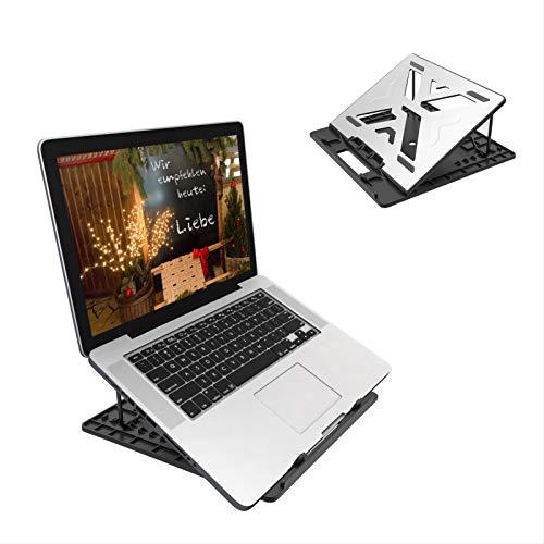 Sonkir Laptop Stand Adjustable, Portable Laptop Stands Desk with Mouse Pad Aluminum Ventilated Ergonomic Cooling, Portable Laptop Desktop Notebook Holder