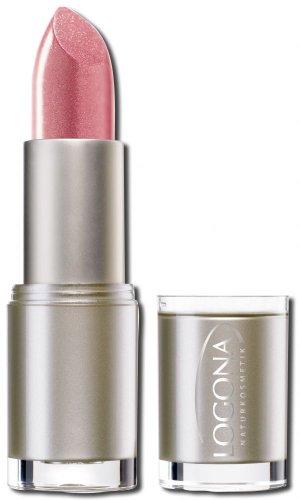 LOGONA Naturkosmetik Lipstick No. 08 Moonlight Rose, Natural Make-up, Lippenstift, zart pflegend und sanft schützend, enthält Anti-Aging Wirkstoffe, Bio-Extrakte, 4.2 g