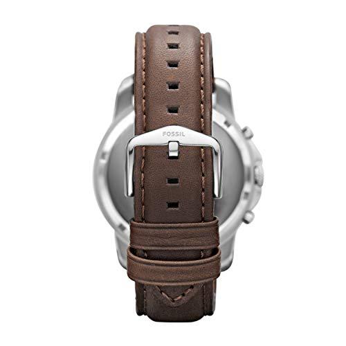 Fossil Homme Chronographe Quartz Montre avec Bracelet en Cuir FS4735