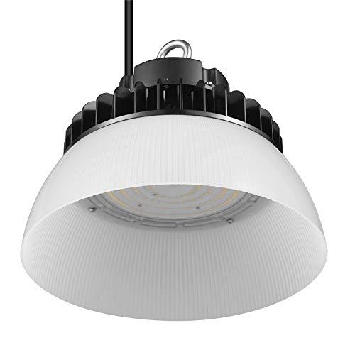 GRANDLUMEN LED Hallenstrahler 150W, LED Hallenbeleuchtung PC Reflektor, UFO LED High Bay Licht 5000K, 135LM/W Schutzart IP65 [Energieklasse A++]