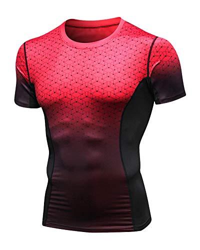 Camisetas Deportivas Hombre Manga Corta Fitness Correr Camis