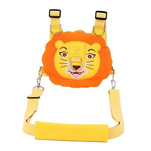 Kleinkind Sicherheitsgeschirr Kid Baby Rucksack Zügel Sicherheitsleine - Orange Löwe