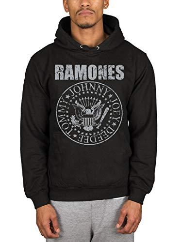 AWDIP Sudadera con Capucha Oficial de Ramones Negro Negro (M