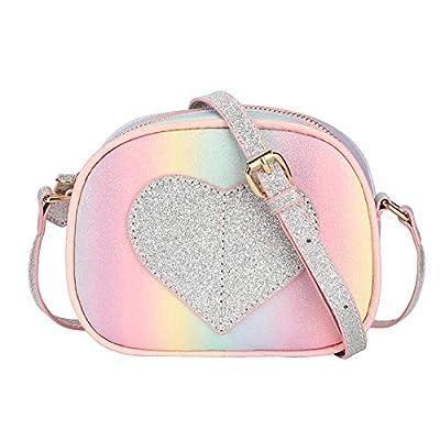 CMK Trendy Kids Mini Heart Shape Kids Purse and Handbags for Little Girls Cross Body Bag for Toddlers (PKBURB), Small