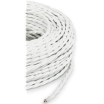 Secci/ón 2/X 0.75 Cable el/éctrico redondo//redondo revestido de tela Color Arena//Canvas Marr/ón