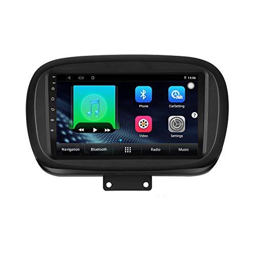 XISEDO Android Autoradio per Fiat 500X 2014-2019 In-dash Car Radio 9 Pollici Car Stereo Navigatore GPS con Schermo di Tocco Nessun lettore DVD (500X)