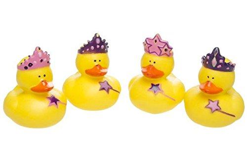 Schnooridoo 4 x Prinzessin Badeenten Duck Princess Gummiente Ente Badewanne Spielzeug Kinder Pool