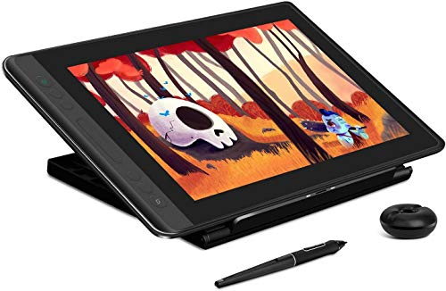 cheap screen tablets HUION KAMVAS Pro 13 Graphic Drawing Tablet with Screen Full-Laminated Drawing Monitor with Battery-Free Stylus Tilt 8192 Levels Pressure 4 Hot Keys Touch Bar-13.3 inch Pen Display with Stand