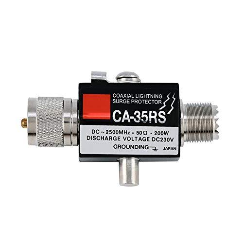 CA-35RS Koaxialer Überspannungsschutz-Ableiter Ableiter von Stecker zu Buchse UHF-Stecker Absorbieren Sie den Überspannungsschutz von Blitzeinschlägen auf einer Antenne oben in einem Gebäude und erden