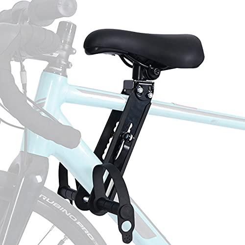 EnweMahi Abnehmbarer Fahrradkindersitz,Mountainbike Vorne Kinder Fahrradsitz Mit Armlehnen,Bequemes Kissen,Fahrrad Kindersitz für Kinder 2-5 Jahren,22 Kg,Cushion