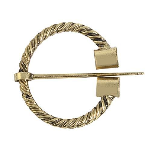 11 estilos, 3 colores, Pin vikingo Vintage, broche nórdico medieval, accesorios, cinturón, bufanda, hebilla, abrigo, alfileres de capa, joyería-1