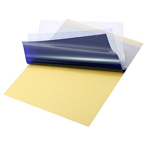 Anself 25pcs Transfer Paper Carbon Thermal Stencil Papel de copia Papel de calco con 4 capas Tattoo Supply